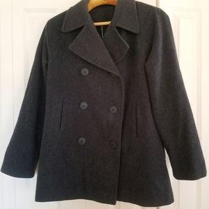 J.PERCY Merino Jacket Coat. Charcoal Black L 10